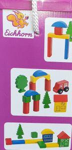 Eichhorn Holz- Bausteine-Set Spielbox Stadt 50 Teile