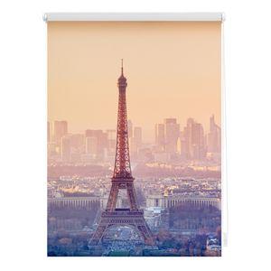 Rollo Klemmfix, ohne Bohren, blickdicht, Eiffelturm - Orange 90 x 150 cm (B x L)