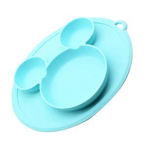 Silikon-Kinderteller - rutschfeste Silikonplatte für Kleinkinder und Kinder - Babyteller mit Saugnapf Geeignet für die meisten Hochstuhlschalen