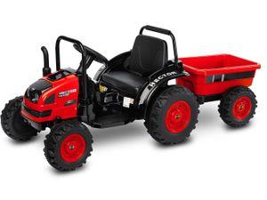 Kinder Elektro Bulldog Hector Red Traktor elektrisch 12V Trecker m. Anhänger
