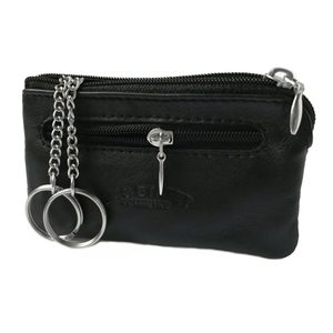 Schlüsseltasche Leder 11x7cm schwarz Minibörse Bag Street Sc1121