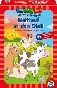 Schmidt Spiele Kinderspiel Wettlaufspiel Ene Mene Muh, Wettlauf in den Stall 40558