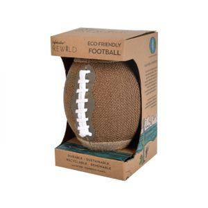 Waboba rugbyball Rewild22,9 cm Jute/Gummi braun