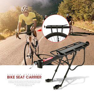 Alu Fahrrad Gepäckträger für Mountainbike Gepäcktaschen Sattelstütze Montage Hinten bis25kg
