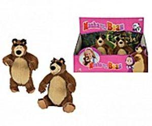 Simba 9301942, Spielzeug-Bär, Braun, Mascha und der Bär, Plüsch, 220 mm, 160 mm