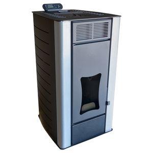 Nemaxx PW18-BK Pelletofen Wasserführend 18 kW Pelletkaminofen Pelletheizung - Stahl Schwarz - für bis zu 300m³ - 90,8% Wirkungsgrad - A+