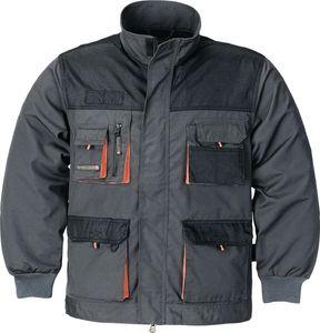 Herrenjacke Gr.56 dunkelgrau/schwarz/orange 65%PES/35%CO 270g/m2