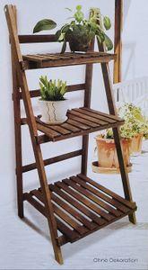 Sesua Pflanztreppe Holz klappbar 3 Ebenen 45,5 x 40,5 x 99,5 cm Blumentreppe Blumenleiter Blumenregal