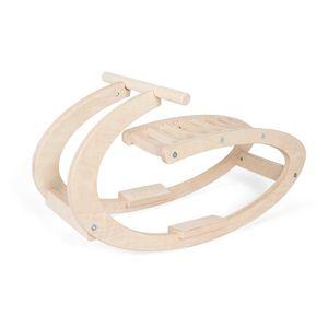 Holz Schaukelpferd für Kinder | Modern Wippe Holz Pferd aus natürlichem Holz | Minimalistisches Design
