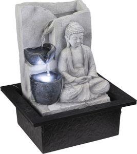 Globo Lighting ALBERT Brunnen Kunststoff grau, 1xLED, 93019
