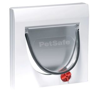 PetSafe Manuelle 4-Wege-Katzenklappe ohne Tunnel Classic 919 Weiß 5031