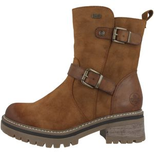 rieker Damen Stiefeletten Schuhe Braun Boots, Größe:38