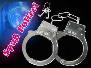 Handschellen Handcuffs Fasching Karneval chrom