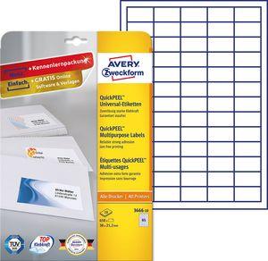 AVERY Zweckform Universal Etiketten 38 x 21,2 mm weiß 650 Etiketten
