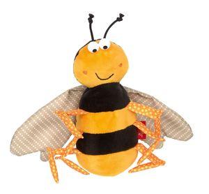 sigikid Mini Kuscheltier Biene, Plüschtier, Stofftier, Schmusetier, Polyester, Gelb, 39208