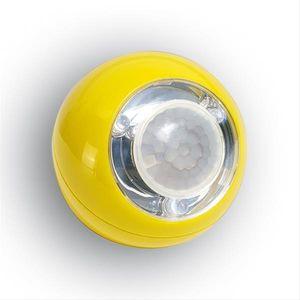 LED Leuchte Lichtball LLL 759 mit Bewegungsmelder batteriebetr. gelb