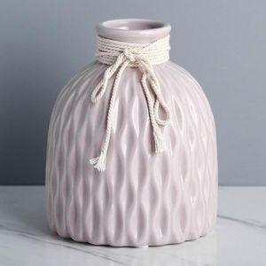 Nordische stil keramik blumen vase heim Nachbildung vase tisch mittelstücke vase deko Farbe Rosa