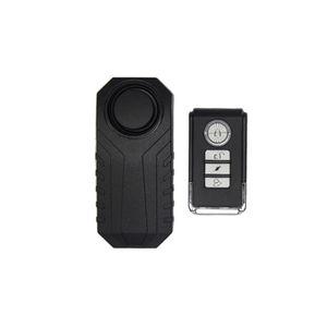113dB Drahtloser Anti-Diebstahl-Vibrationsalarm Motorrad Fahrrad Wasserdichte Sicherheitssensoren Fahrradalarm mit Fernbedienung