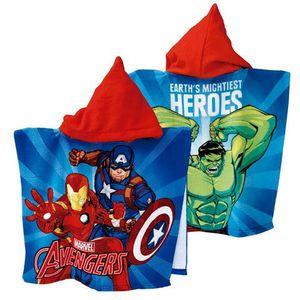 Kinderponcho Avengers NEU Badeponcho Kapuzenponcho Bademantel Handtuch Strandtuch Badetuch Mikrofaser