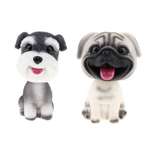 2 Stück Wackelkopf Hund Wackelfiguren für Auto Armaturenbrett Dekoration
