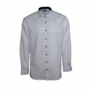 Eterna Modern Fit Hemd Langarm Fein Oxford Weiß 8100/00/X13K, Größe: 45
