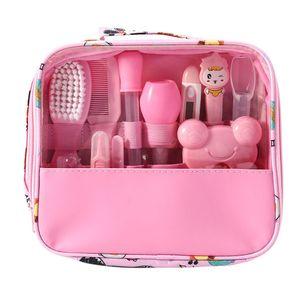Baby Pflegeset | 13-teiliges Baby Pflege Produkte | Baby Pflegeset Erstausstattung | Nagel und Nasen Pflege mit Tasche mit Handtasche (Rosa)