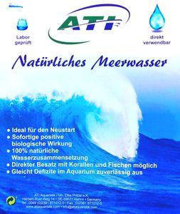 ATI Natürliches Meerwasser von ATI 20 Liter für Meerwasseraquaristik