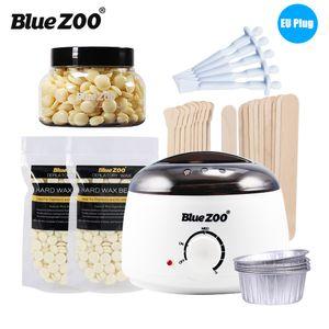 Blue ZOO 7 in 1 Haarentfernungs Enthaarungsset Wachsbohnenwaermer Heizmaschine mit Hartwachsbohnen & Haarentfernungsstift & Schmelzwachsschalen,,