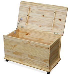 KMH® Holz Spielzeugkiste NATUR