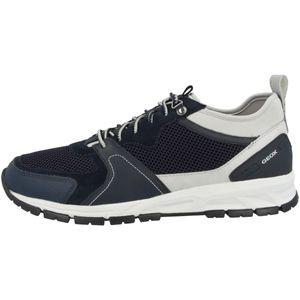 Geox Damen Sneaker Sneaker Low Leder-/Textilkombination blau 44
