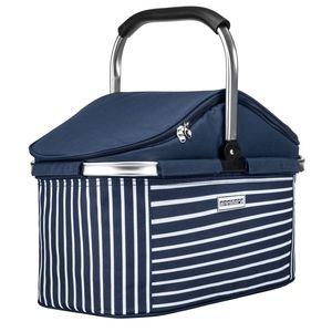 Kühlkorb 25 Liter Blau Weiß - Navy