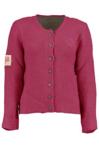 Damen Trachten Wolljanker Strickjacke Tracht Weste , Größe:40, Farbe:Himbeere