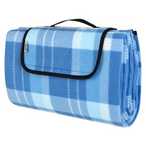 DETEX Picknickdecke Wasserdicht Campingdecke 200 x 200cm oder 195 x 150cm Stranddecke, Größe/Farbe:195x150cm, Blau