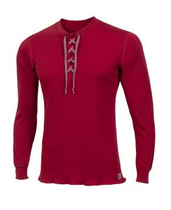 Aclima WarmWool Men's Shirt with Cord, Farbe:tango red, Größe:S