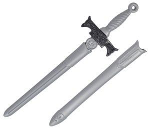 Kinder Ritterschwert Spielzeug Kunststoff ca. 65 cm , Farbe wählen:silber