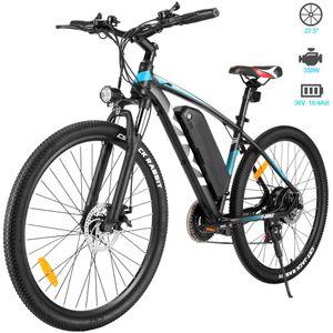 VIVI 27,5 Zoll Elektrofahrrad E-Trekkingrad E-bike Faltbares Mountainbike mit LED Fahrradlicht, E-MTB Elektrisches Fahrrad mit 36V 10.4AH Lithium Akku 250W und Shimano 21-Gang Getriebe,für Damen, Herren, Unisex,Blau
