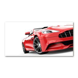 Tulup® Leinwandbild - 120x60 cm - Wandkunst - Drucke auf Leinwand - Leinwanddruck - Fahrzeuge - Rot - Sportwagen
