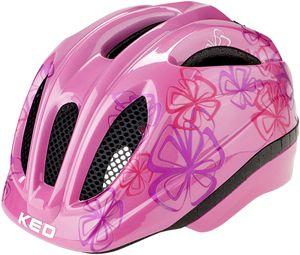 KED Meggy II Trend Helm Kinder pink flower Kopfumfang M   52-58cm