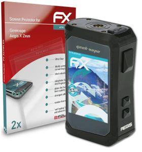 atFoliX FX-ActiFleX 2x Schutzfolie kompatibel mit Geekvape Aegis X Zeus Folie