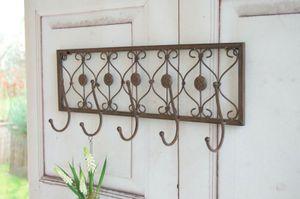 Landhaus Wandgarderobe, Graderobe PIA dunkelbraun 50 cm, antique shabby chic