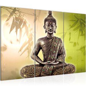 Buddha BILD 120x80 cm − FOTOGRAFIE AUF VLIES LEINWANDBILD XXL DEKORATION WANDBILDER MODERN KUNSTDRUCK MEHRTEILIG 500331c