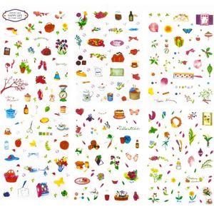 Oblique Unique 150 Sticker Aufkleber Blumen Backen Küche Deko Kinder Scrapbooking