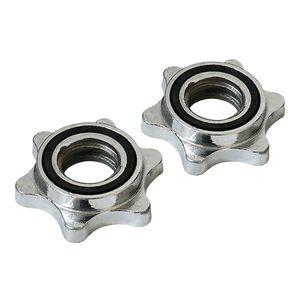 2 Stück Standard Barbel Spin Lock Hantelstange Mutter Stange Sicherungsringklemme