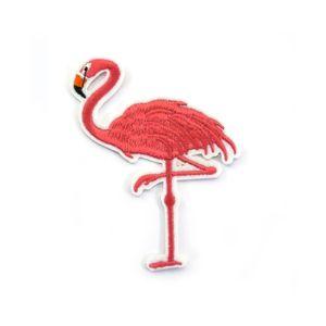 Oblique Unique Aufnäher Patch Abzeichen Aufbügler Flicken - Flamingo