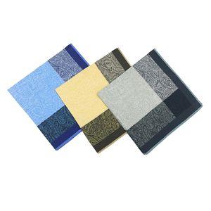 3 Stück Herren Taschentücher Stofftaschentücher - 100% Baumwolle, 43 x 43 cm
