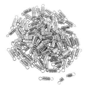 100 Schraubverschlüsse, 3,8mm, VBS Großhandelspackung Silberfar