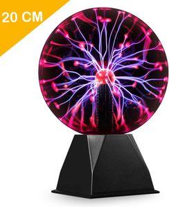 20cm Magische Plasmakugel, Theefun Leucht Ball Elektrostatische Kugel Berührungsempfindliche Blitzkugel