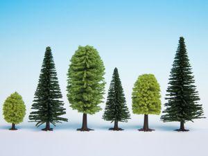NOCH 26911 H0 TT Mischwald 10 Bäume, 5 - 14 cm hoch
