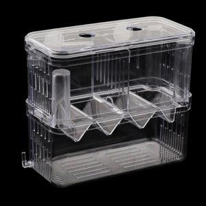 Aquarium Fisch Zucht-Tanks Brutkasten Isolation Inkubator Box, transparent