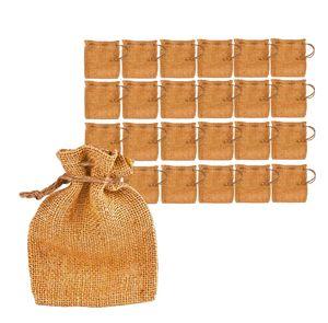 24x Jutesäckchen als Adventskalender - DIY Beutelchen für Geschenke - Nikolaussäckchen zum Befüllen